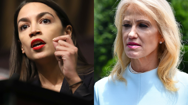 AOC rips in to Kellyanne Conway for mocking her 'meow moment' with Nancy Pelosi.