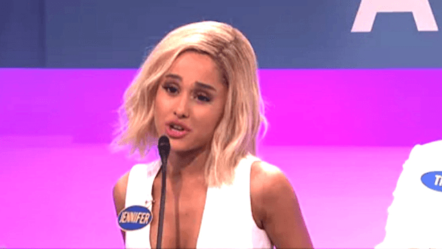 Ariana Grande lays down the J. Law with a stellar Jennifer Lawrence impression.