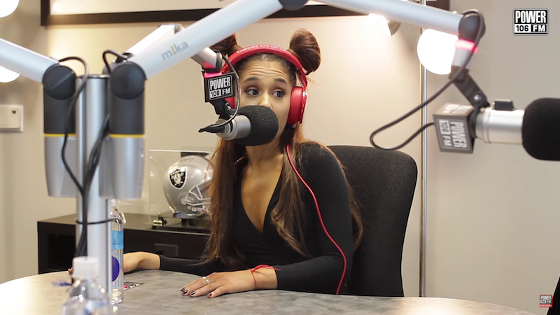 Ariana Grande perfectly shuts down sexism while wearing cat ears made out of her hair.