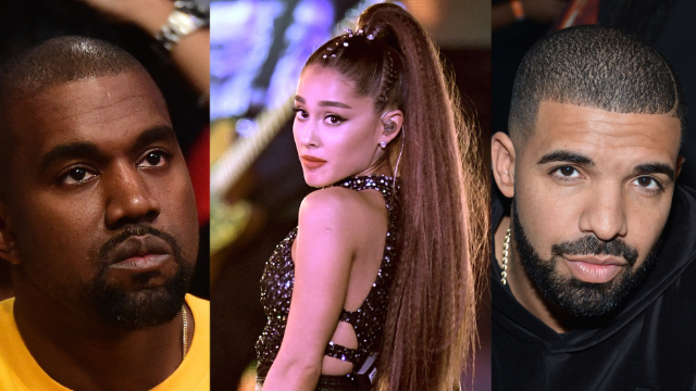 Ariana Grande just said what everyone was thinking about Drake and Kanye's feud. Kanye's not happy.