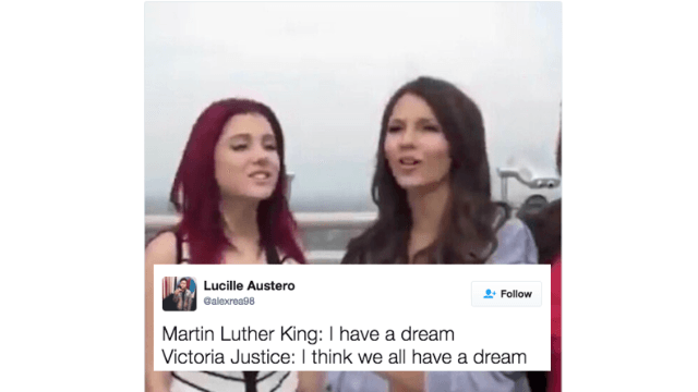 Old interview where Victoria Justice makes a petty comment to Ariana Grande is the internet's latest meme.