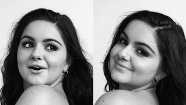Ariel Winter poses topless in unretouched pics to make an important point about self-esteem.