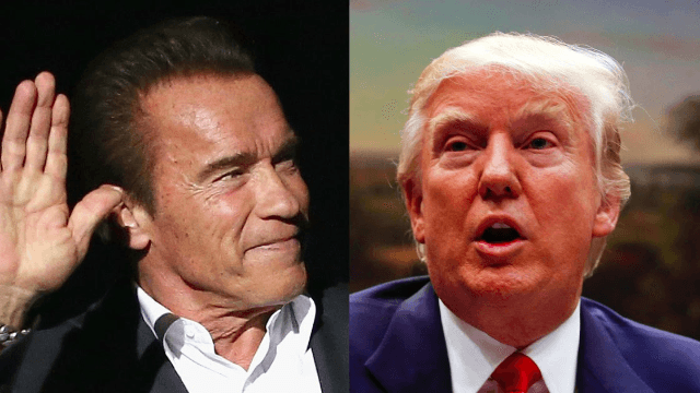 Arnold Schwarzenegger terminates his gig on 'Apprentice' and says it's all Trump's fault.