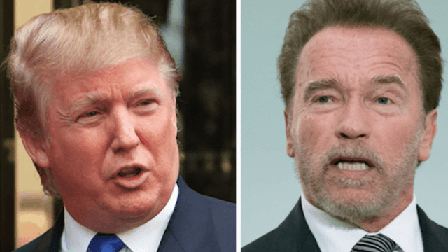 Arnold Schwarzenegger has a lovely theory for why Donald Trump can't stop tweeting about him.