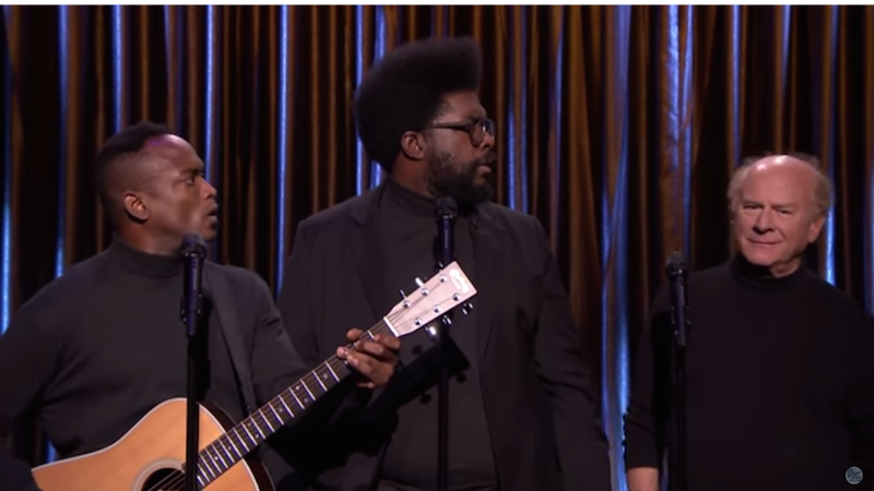 "Black Simon & Garfunkel and Garfunkel sing The Weeknd's ""Can't Feel My Face."""