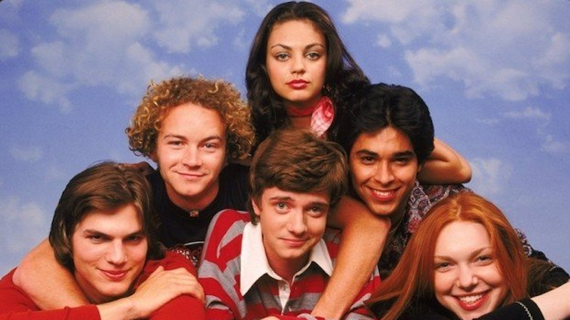 The boys from 'That 70s Show' are back, and they all look like they could play the dad now.