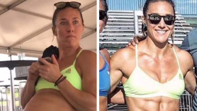 Athlete sprouts abs in 15 minutes to prove 'transformation' pics are BS.