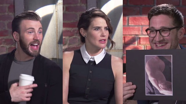 'Avengers' actors try to ID their castmates by their biceps, manage not to spark global outrage.