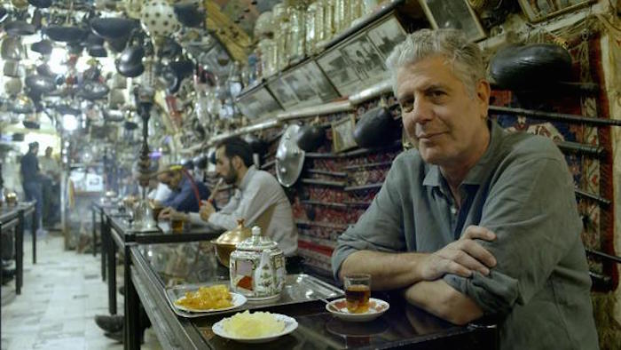 Anthony Bourdain won the Best Dad Ever award for his daughter's slumber party pancake bar.