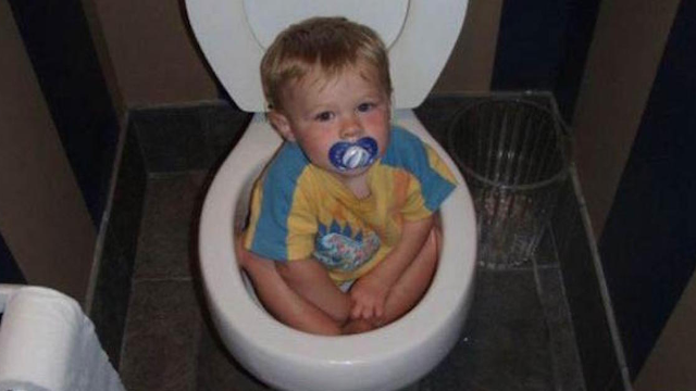 16 little kids who just can't figure out how toilets work.
