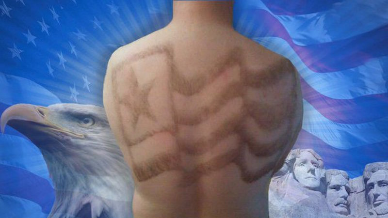 A man in Idaho is making art out of back hair. Yes, back hair.