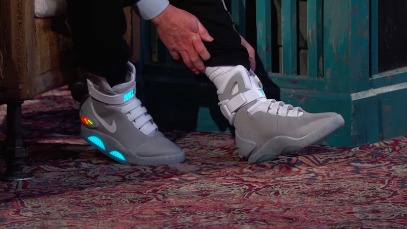 The self-lacing Nikes from 'Back to the Future' are real. Michael J. Fox can help you get them.