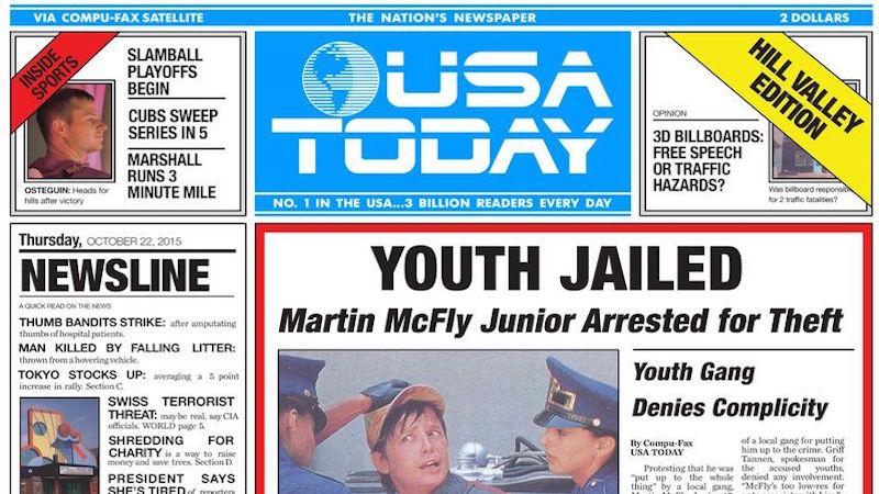 'USA Today' recreated the front page from 'Back to the Future Part II.' How accurate was it?