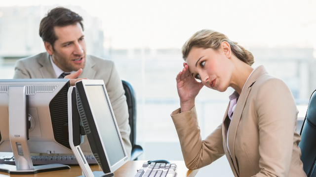 Brilliant anti-social employee finds handy way to fend off back-to-work small talk.