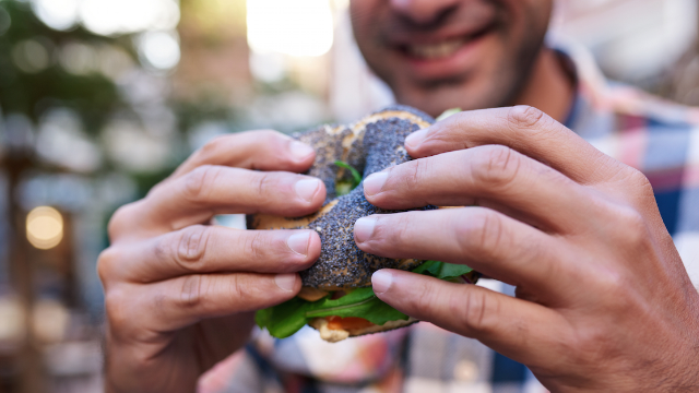 This guy's epic public meltdown over a bagel sandwich made him go viral and then to jail.