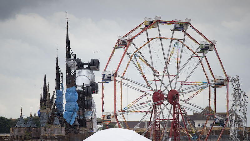"Banksy's new theme park, ""Dismaland,"" will teach you all about society's ills, but are there novelty popsicles?"