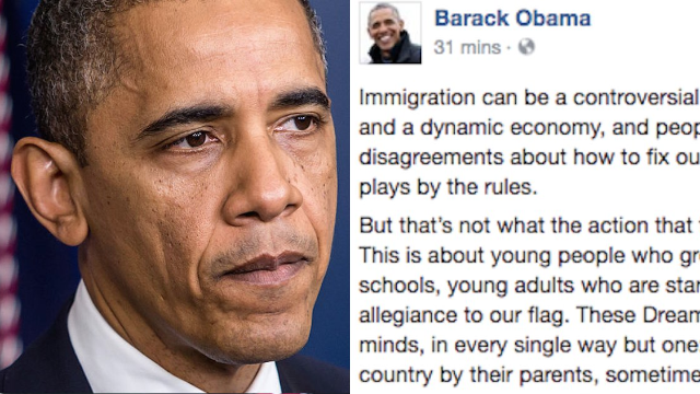 Here's Barack Obama's fiery response to the Trump administration ending DACA. Sit down, Jeff Sessions.