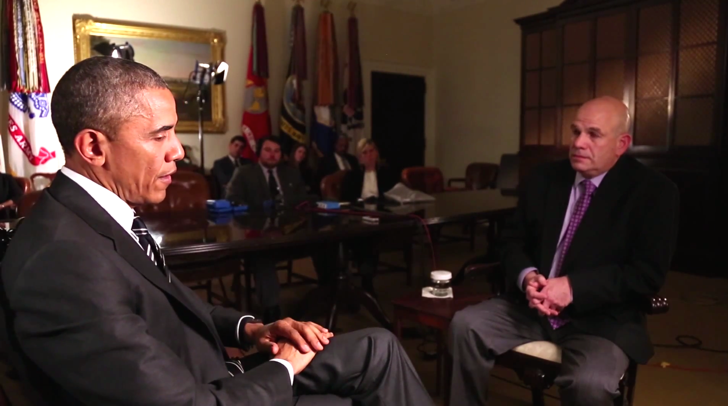 "Barack Obama talked to the creator of ""The Wire"" and it's hard to tell who's the bigger fanboy."