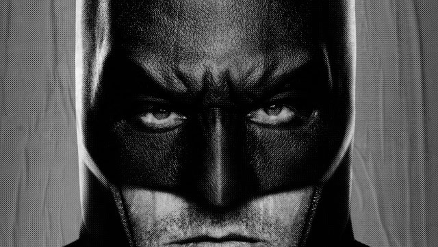 Here's our first good look at Ben Affleck as a neckless Batman.