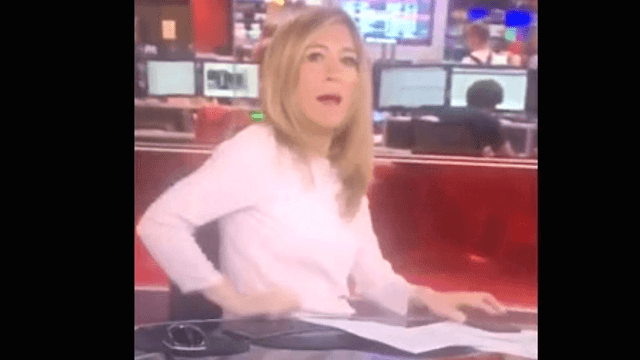 BBC anchor too busy texting to realize she's on live TV.