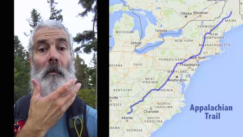 Man creates time-lapse of hiking the Appalachian Trail to show off his accomplishment, beard.