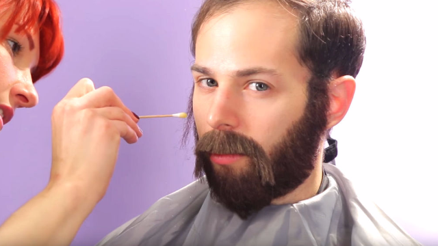 Beardless guys get the chance to wear realistic-looking beards for a day. It changes their worlds.