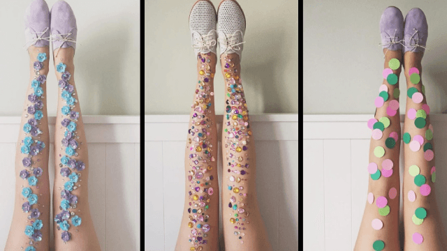 These bedazzled stockings will make your boring legs look magical.
