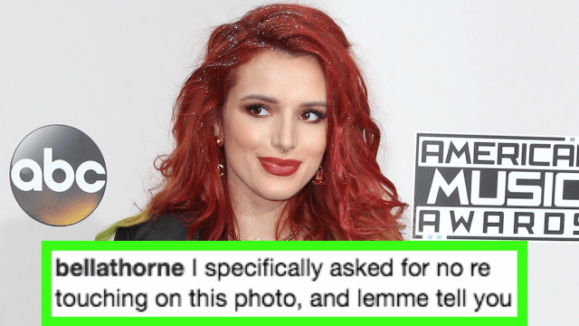 Bella Thorne poses nude in un-retouched photo to prove she's 'not f**king perfect.'