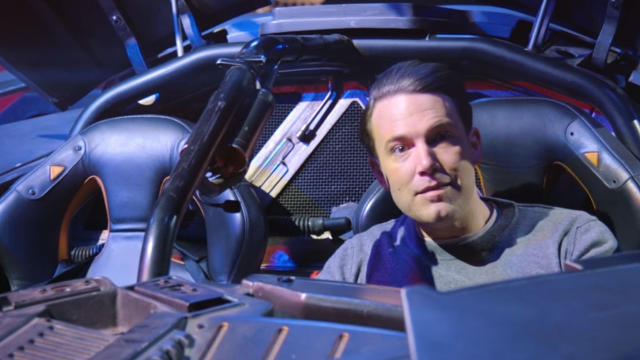 Ben Affleck hid in the Batmobile and shamed people who said Superman would win a fight.
