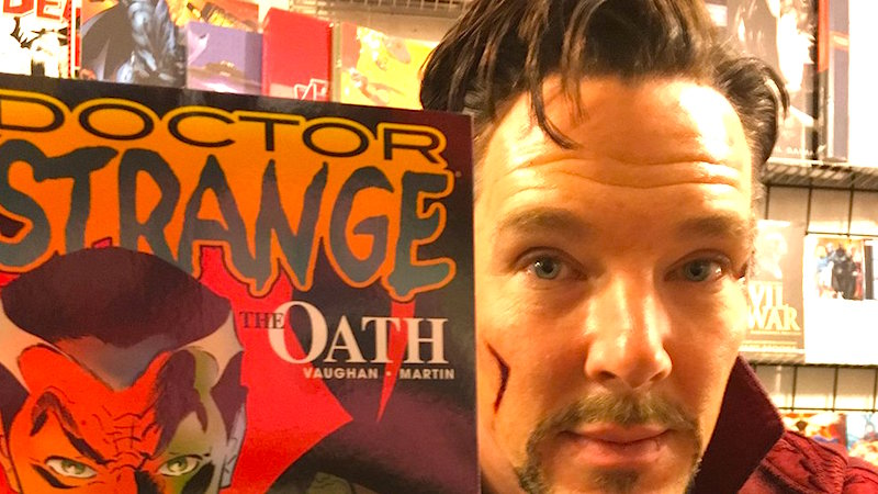 Benedict Cumberbatch dropped by a comic book store dressed as Dr. Strange just to make nerds pee themselves.