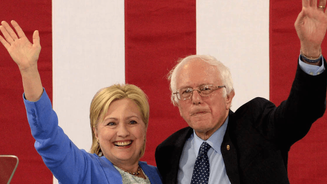 29 of the funniest tweets about Bernie Sanders endorsing Hillary Clinton.