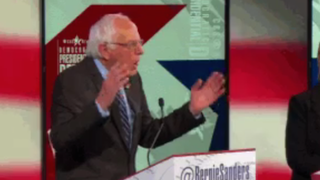 Someone finally figured out what Bernie Sander's hand-gesturing style looks like.