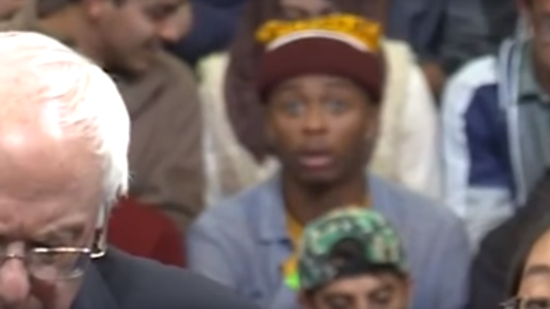 Young man goes from bored with the election to having his mind blown in one hilarious second.
