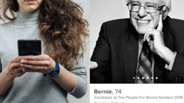 Women are campaigning for Bernie Sanders on Tinder. Thirsty dudes don't know what to make of it.