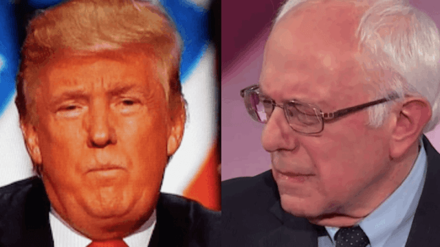 Bernie Sanders live-tweeted Trump's speech with as angry a rant as you could hope for.