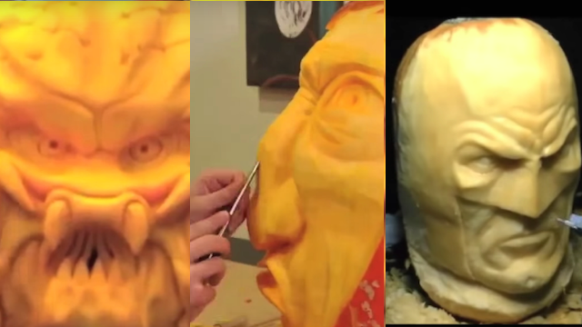 All of YouTube's best insane pumpkin-carving videos combined into one.