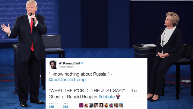 The 52 best reactions to the second Trump v Clinton presidential debate, The Kablooey in St. Louis.