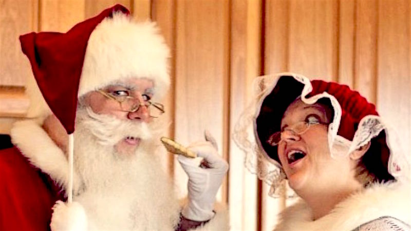 Santa school teaches helpers how to actually determine which kids are nice at the mall.