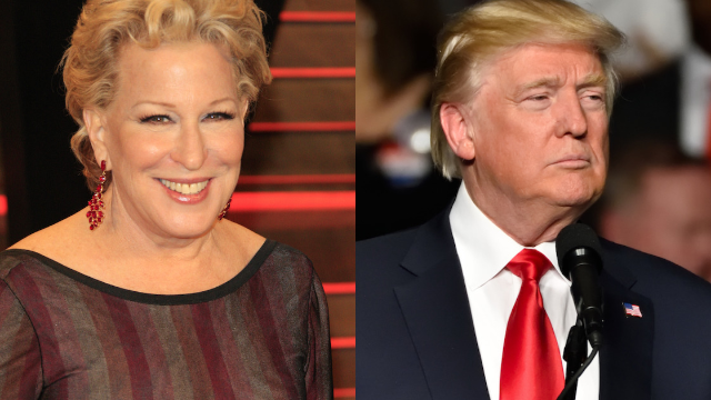 Bette Midler called 'racist' for claiming Trump paid black people to attend his rally.