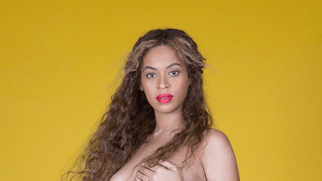 Beyoncé's pregnancy photoshoot is a work of art—literally.