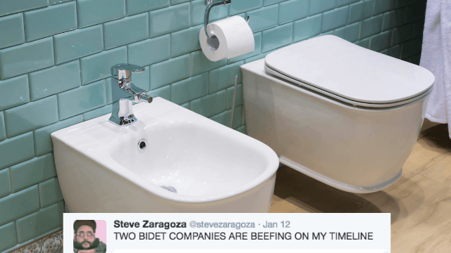 Two bidet companies are feuding on Twitter and it got hilariously savage.
