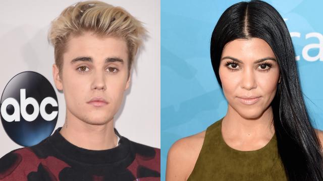 Update: Kourtney Kardashian isn't the woman in that racy Bieber photo. But it's not photoshopped either.