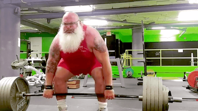 Santa is real and apparently he can deadlift 650 pounds.