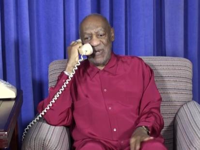 Bill Cosby creates bizarre video to promote his shows and ignore serial rape accusations.