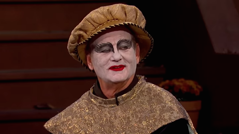 Bill Murray visited Jimmy Kimmel in 'Black Swan' makeup because he does what he wants.