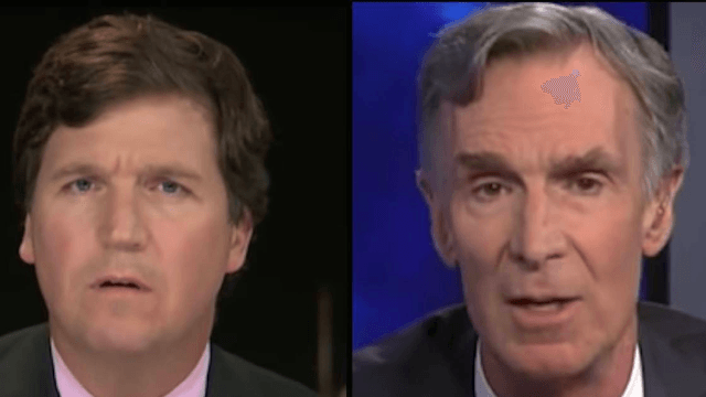 Tucker Carlson melts down faster than a polar ice cap in climate change debate with Bill Nye.