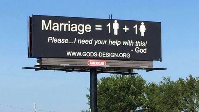 An Iowa couple is using donations to fund 1,000 billboards against same-sex marriage.
