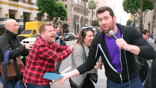 James Corden gets tickled by strangers on the streets of LA.