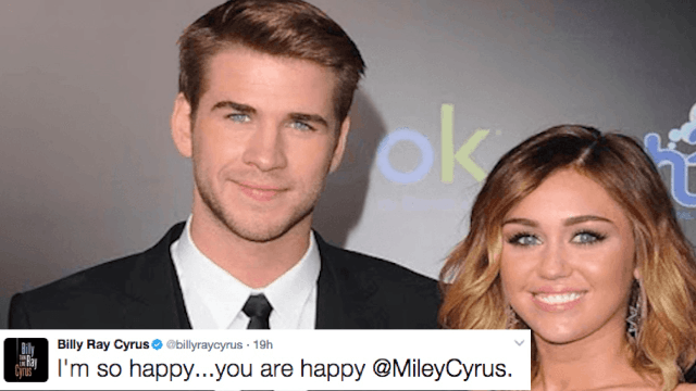 Billy Ray Cyrus sure seems to be suggesting that Miley and Liam secretly got married.