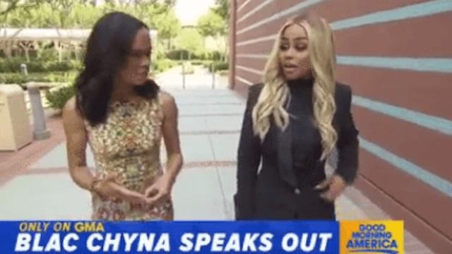 Blac Chyna says on 'GMA' she's 'devastated' by Rob Kardashian posting her nudes.